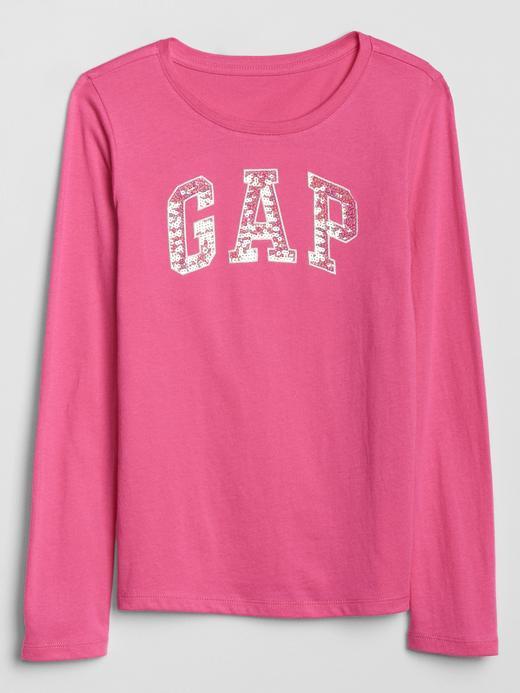 Kız Çocuk Pembe Gap Logo Uzun Kollu T-Shirt