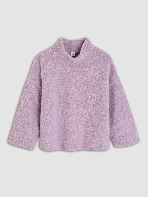 Kadın Lila Sherpa Pullover Sweatshirt
