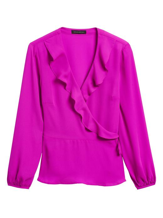 Kadın Pembe Fırfırlı Bluz