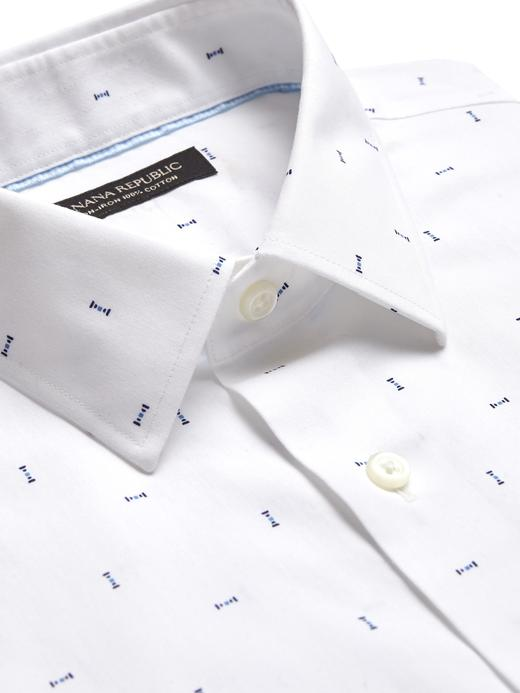 Erkek Beyaz Grant Slim-Fit Ütü Gerektirmeyen Gömlek