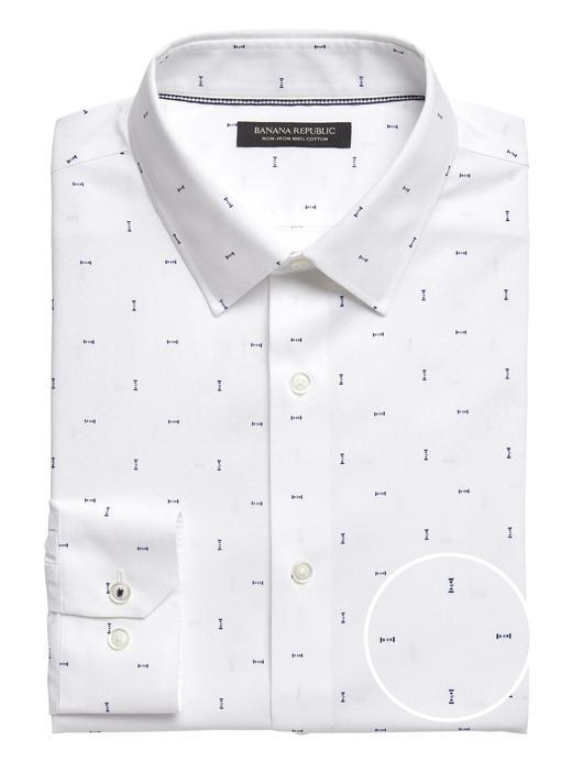 Erkek Beyaz Camden Standard-Fit Ütü Gerektirmeyen Gömlek