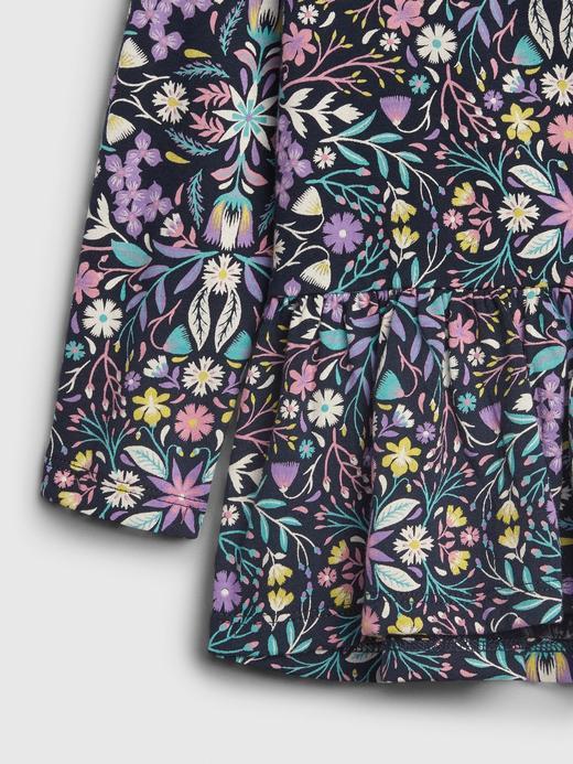 Kız Bebek Lacivert Uzun Kollu Peplum T-Shirt