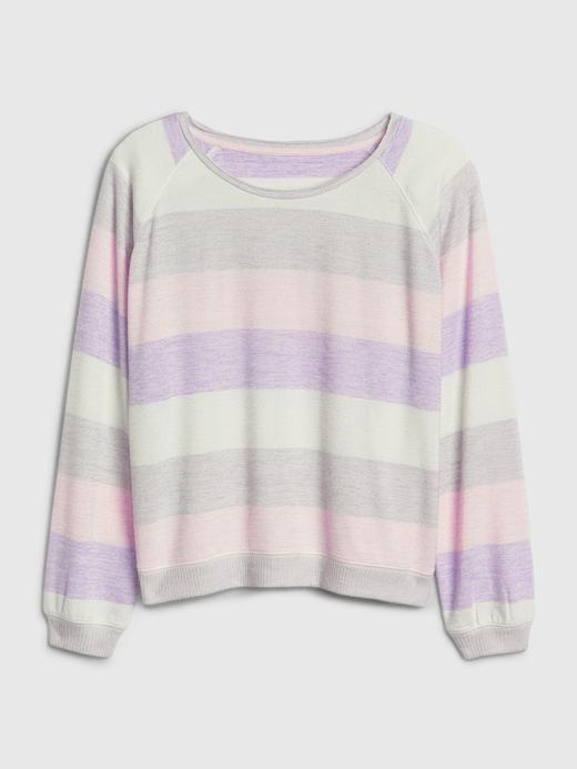 Kadın Mor Softspun Raglan T-Shirt