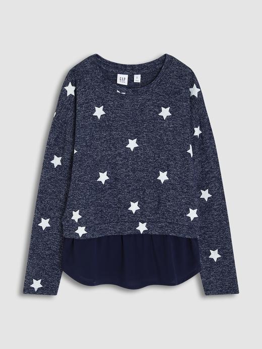 Kız Çocuk Lacivert Uzun Kollu T-Shirt
