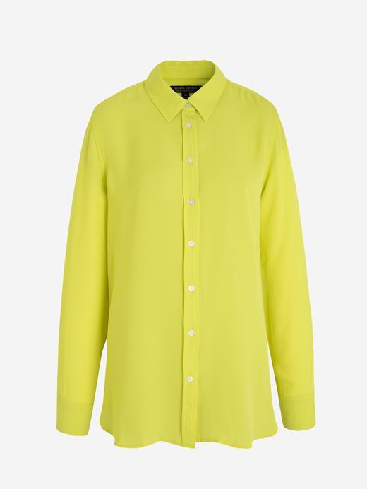 Kadın Yeşil Classic-Fit Gömlek
