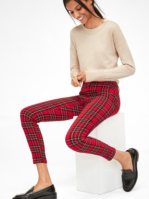 Kadın Kırmızı Skinny Ankle Pantolon