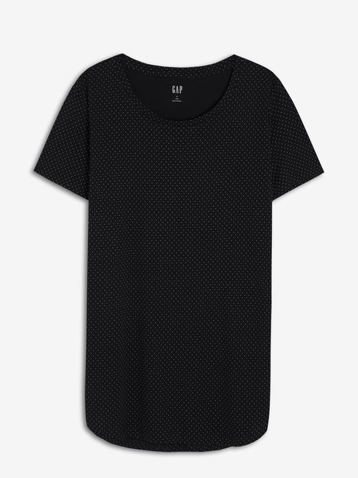 Kadın Siyah Luxe Kısa Kollu T-Shirt