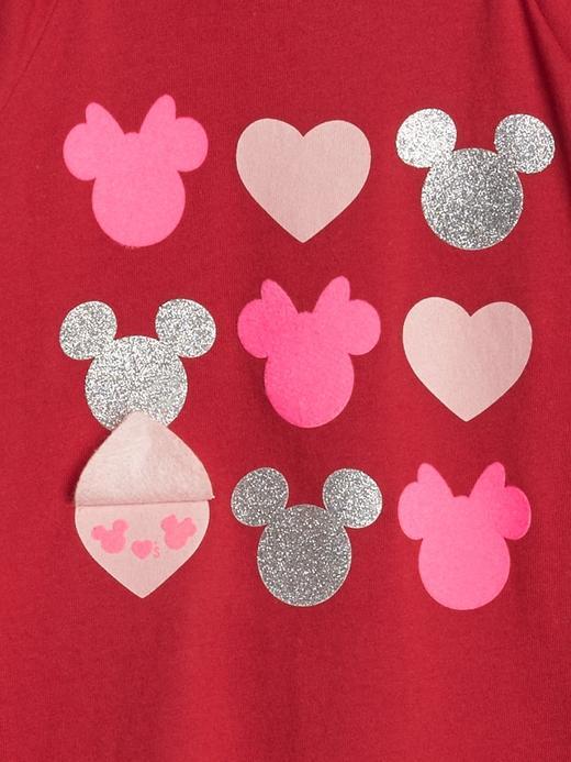 Kız Bebek Kırmızı Disney Mickey Mouse and Minnie Mouse T-Shirt