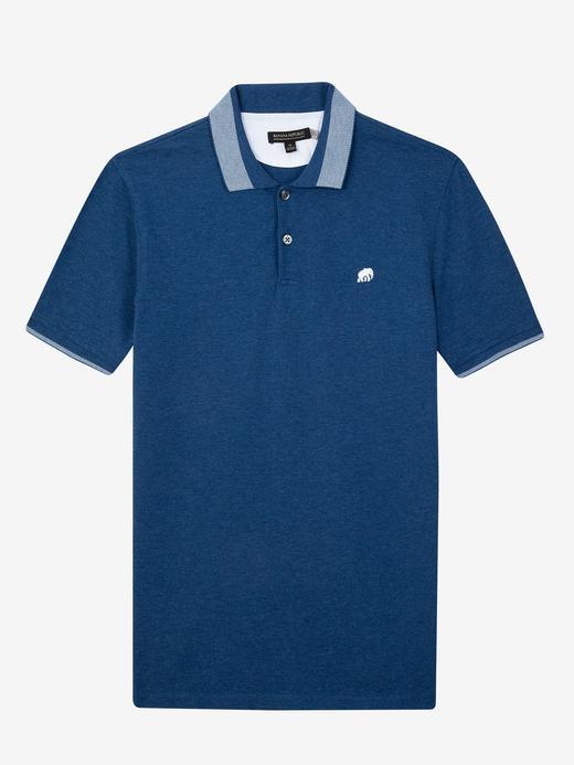 Erkek Mavi Pique Polo T-Shirt
