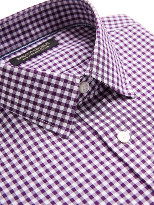 Erkek Mor Camden Standard-Fit Ütü Gerektirmeyen Gömlek