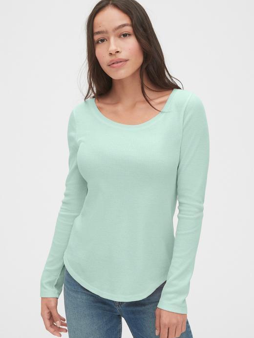 Kadın mint yeşili Yuvarlak Yaka T-Shirt