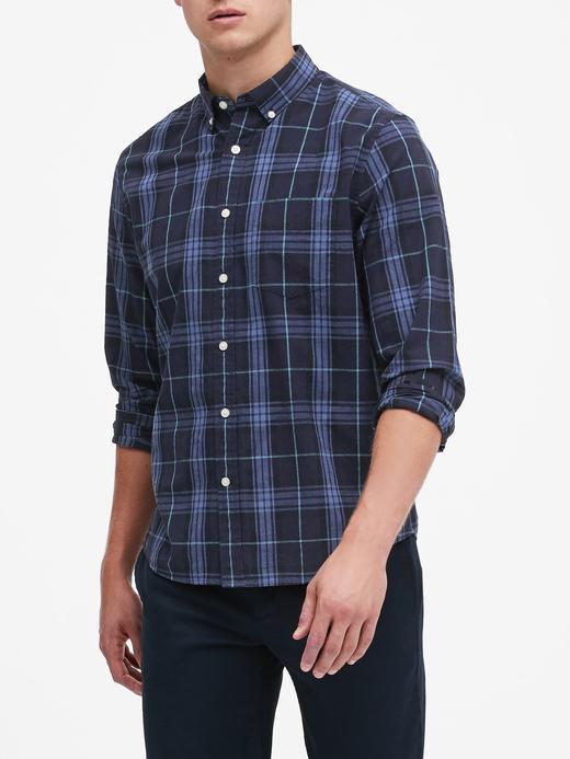 Erkek Lacivert Standard-Fit Luxe Poplin Gömlek