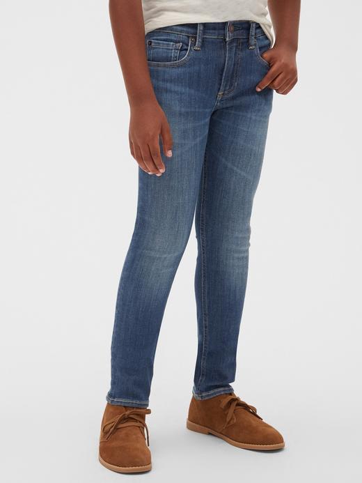 Erkek Çocuk Mavi Streç Skinny Jean Pantolon