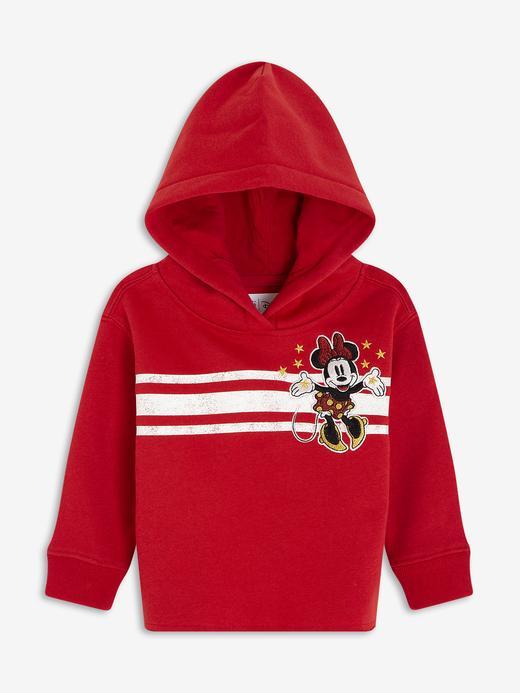 Kız Bebek Kırmızı Disney Minnie Mouse Kapüşonlu Sweatshirt