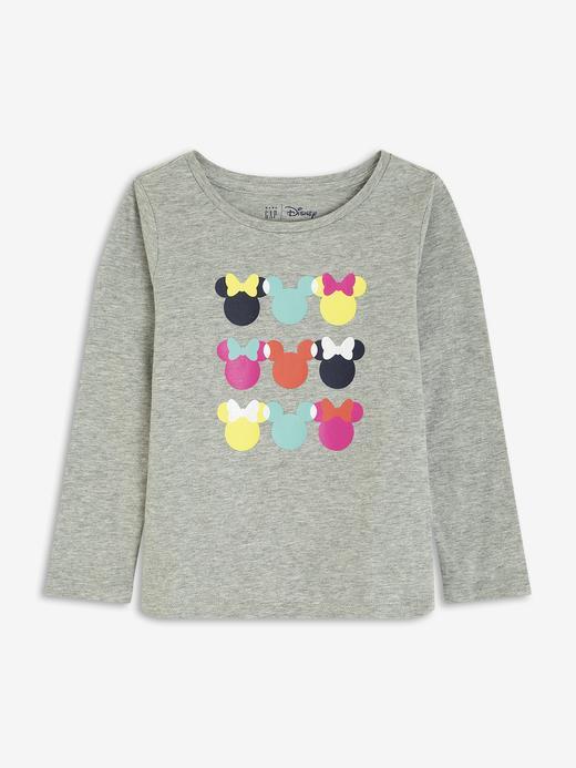 Kız Bebek Gri Disney Minnie Mouse T-Shirt
