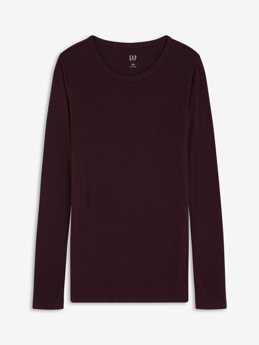 Kadın koyu kırmızı Uzun Kollu T-Shirt