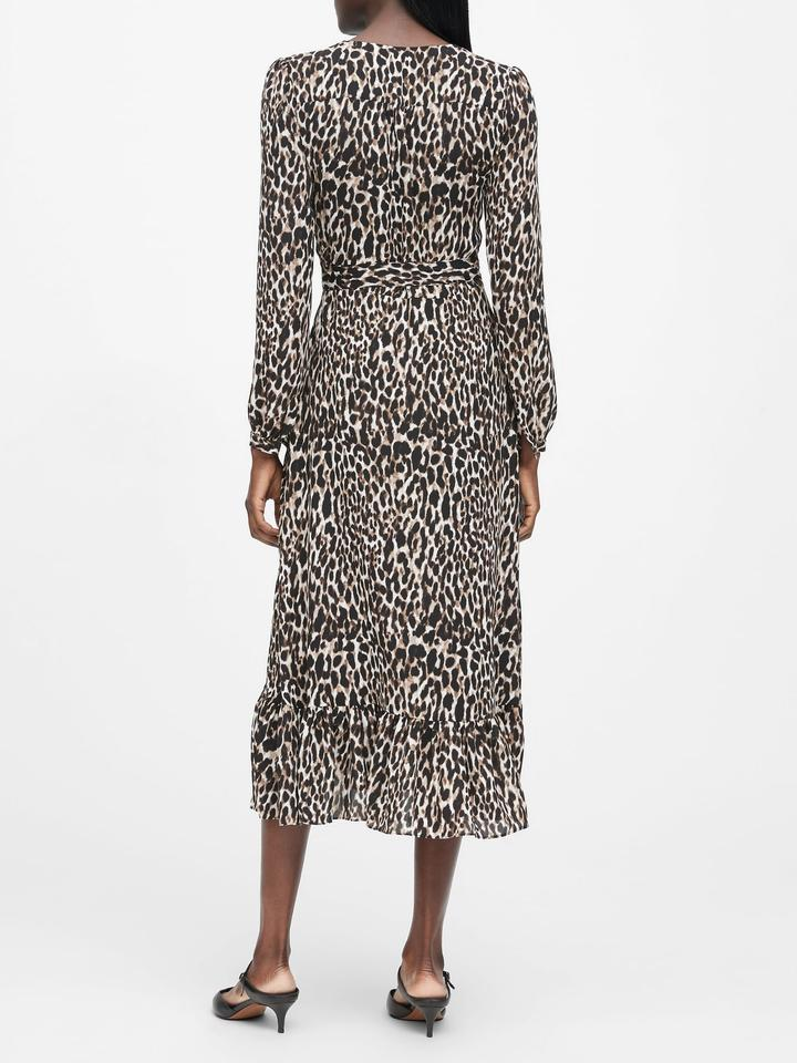 Kadın zebra desenli Desenli Midi Gömlek Elbise