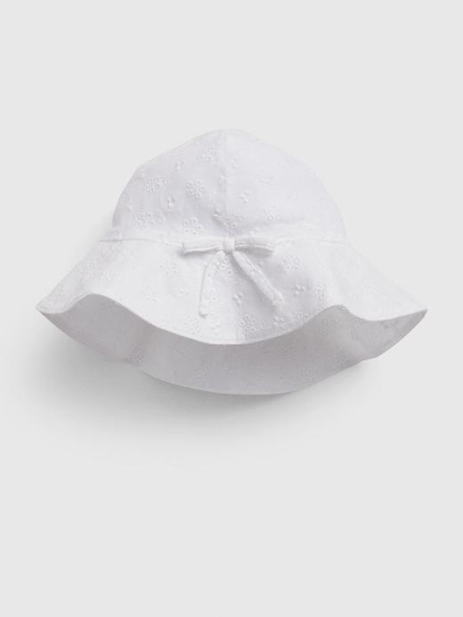 Kız Bebek Beyaz Fiyonk Detaylı Şapka