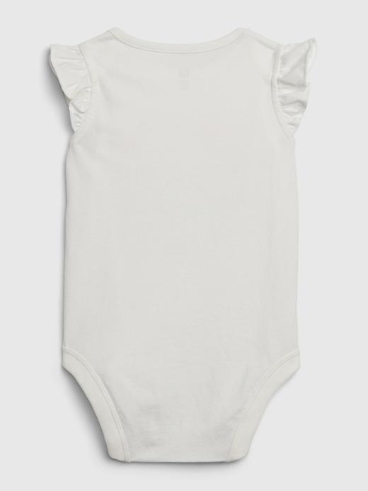Kız Bebek Pembe Grafik Fırfırlı Body