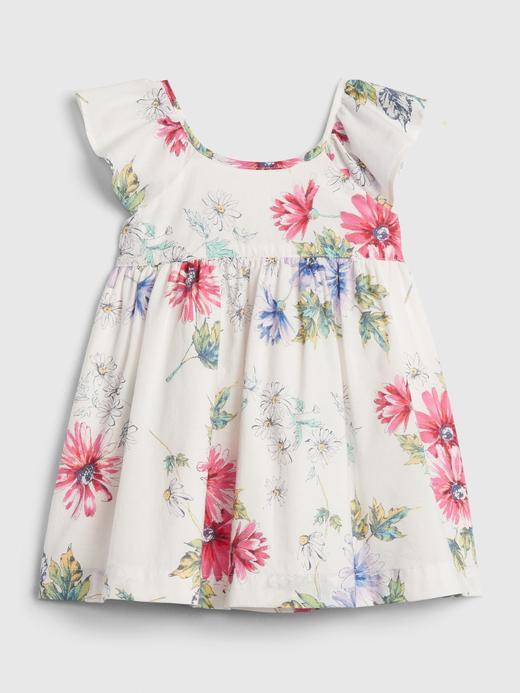 Kız Bebek Pembe Çiçek Desenli Elbise