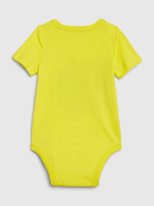 Erkek Bebek Mavi Grafik Kısa Kollu Body