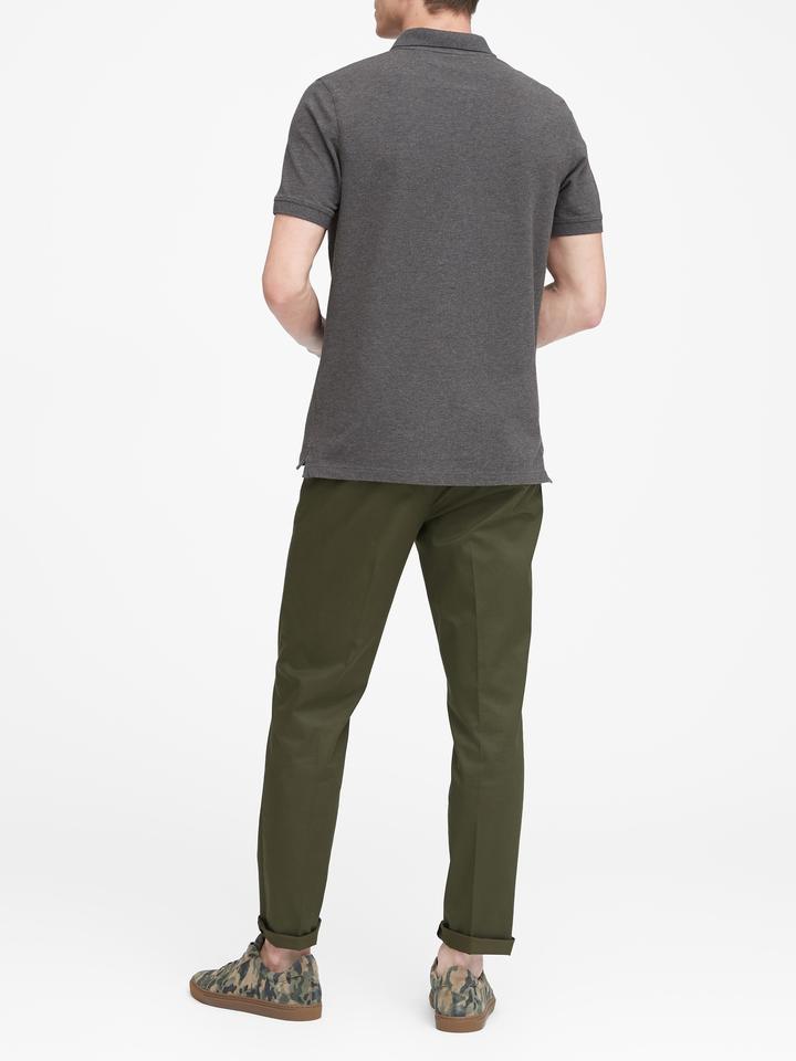 Erkek pembe Signature Pique Polo Yaka T-Shirt