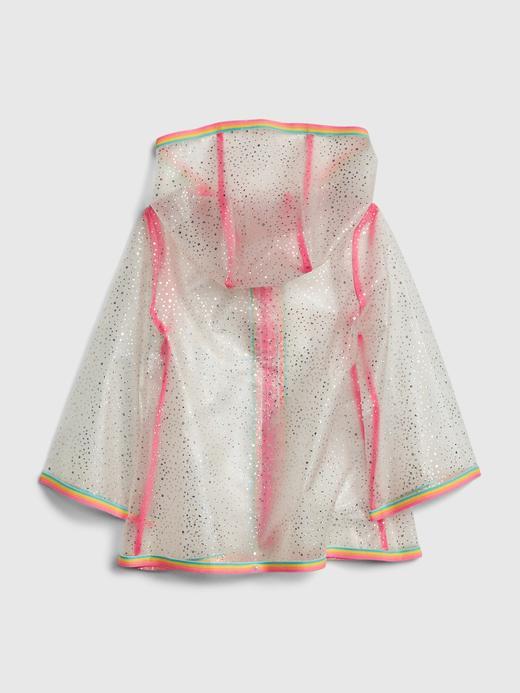 Kız Bebek Çok Renkli Simli Yağmurluk