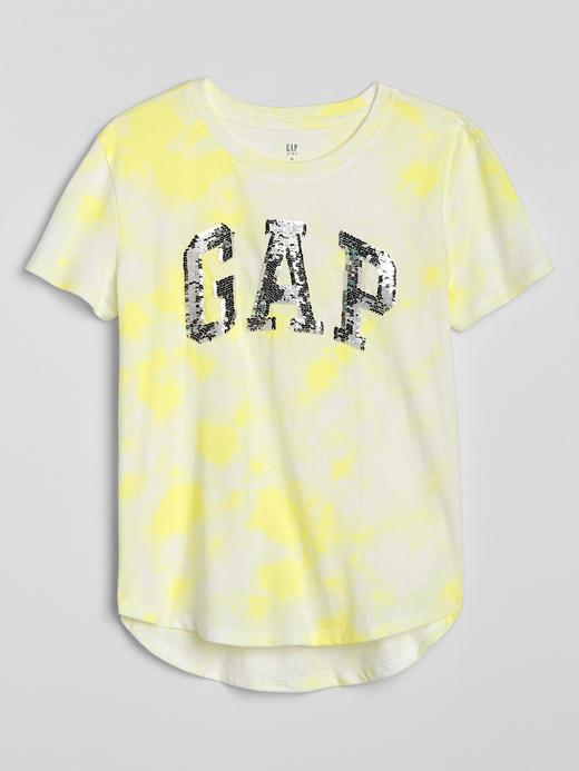 Kız Çocuk Sarı Gap Logo Pullu T-Shirt