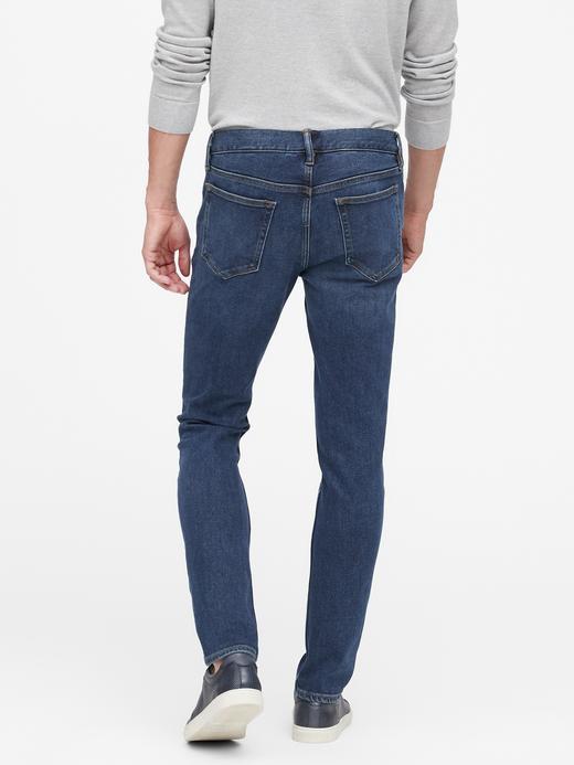 Erkek orta yıkama Skinny Legacy Jean Pantolon