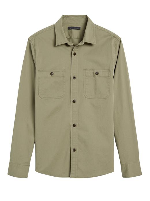 Erkek Yeşil Slim Uzun Kollu Gömlek