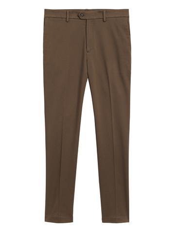 Erkek Kahverengi Slim Traveler Chino Pantolon