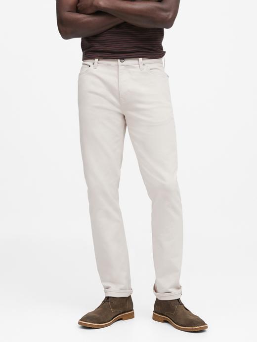 Erkek Beyaz Slim Traveler Pantolon