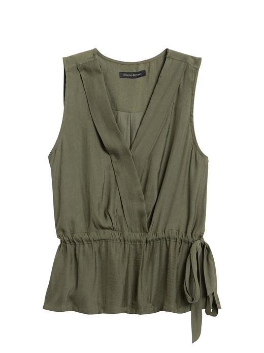 Kadın Yeşil Belden Kemerli Bluz