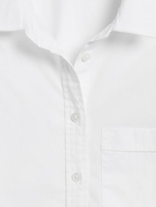 Kadın Beyaz Oversized Poplin Gömlek