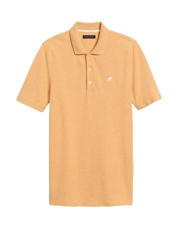 Erkek Sarı Signature Pique Polo Yaka T-Shirt