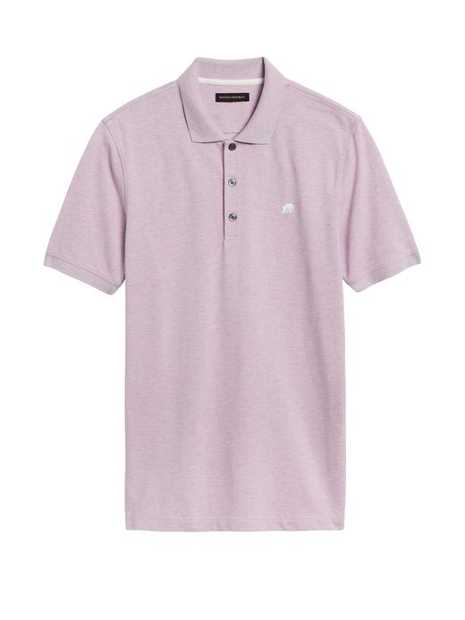 Erkek lila Signature Pique Polo Yaka T-Shirt