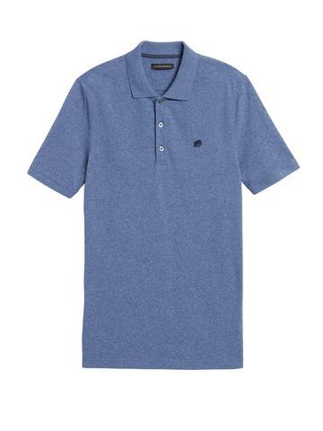 Erkek Mavi Signature Pique Polo Yaka T-Shirt