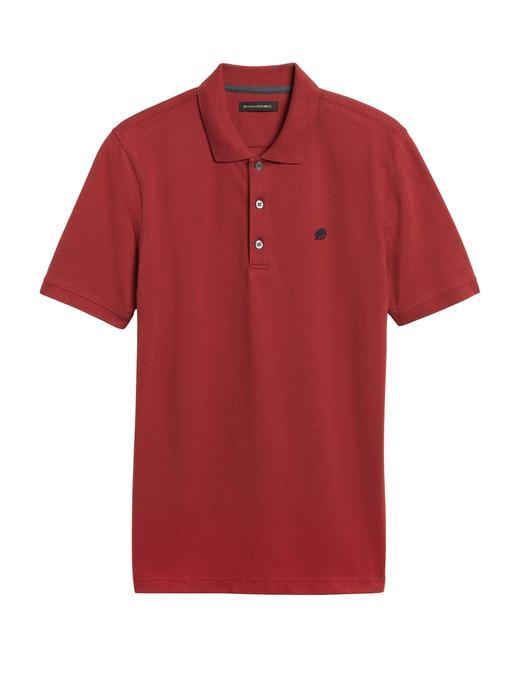 Erkek Kırmızı Signature Pique Polo Yaka T-Shirt