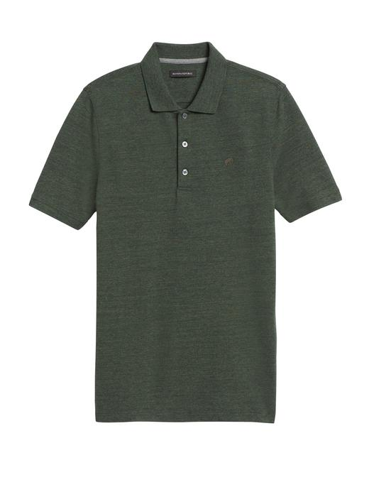 Erkek haki Signature Pique Polo Yaka T-Shirt