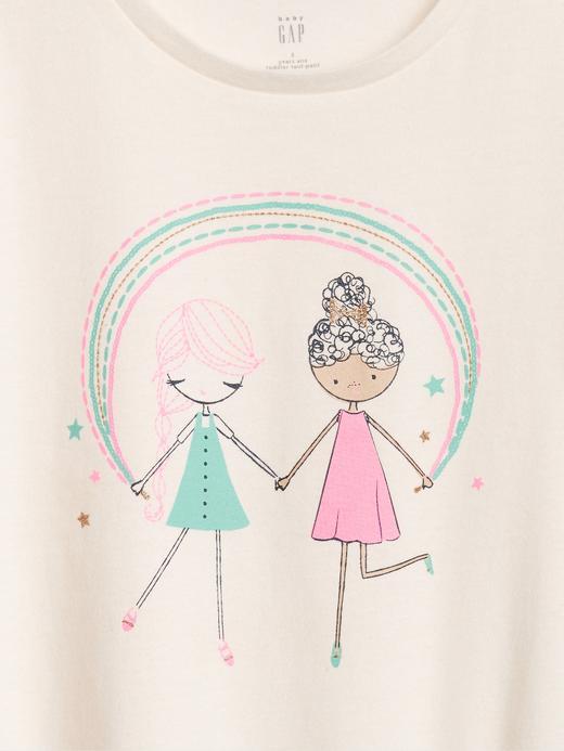 Kız Bebek Sarı Bea Kısa Kollu T-Shirt