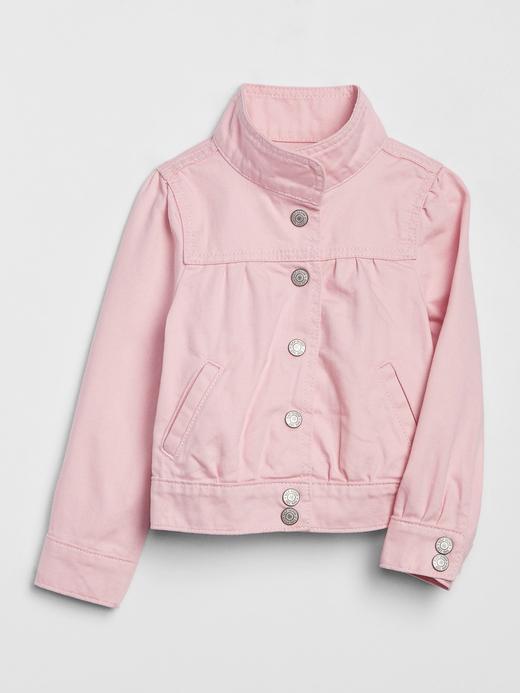 Kız Bebek Pembe Denim Ceket