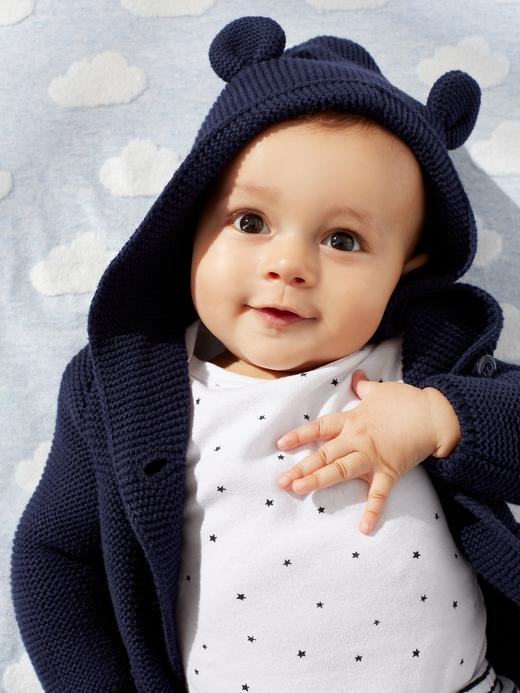 Erkek Bebek Beyaz 3'lü Kısa Kollu Body Seti