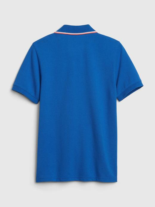 Erkek Çocuk Pembe Gap Logo Polo Yaka T-Shirt