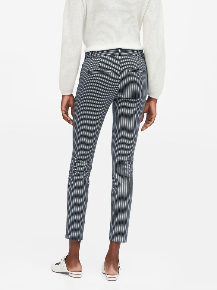Kadın Beyaz Modern Sloan Skinny-Fit Yıkanabilir Pantolon