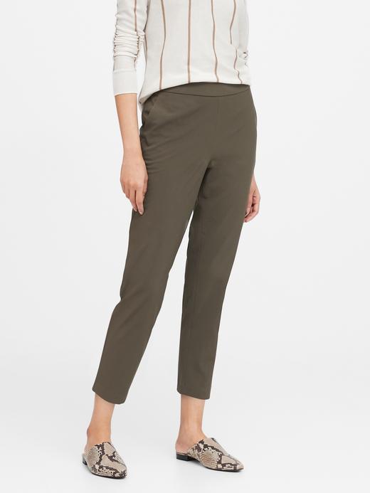 Kadın Yeşil Hayden Tapered-Fit Performance Pantolon
