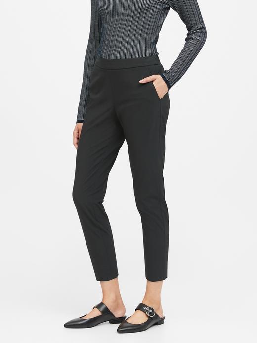 Kadın Siyah Hayden Tapered-Fit Performance Pantolon