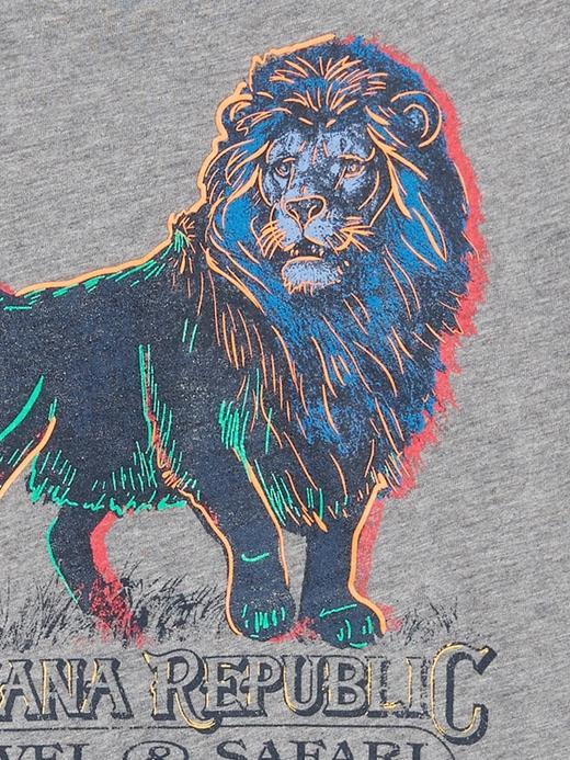 Erkek Gri Grafik Kısa Kollu T-Shirt