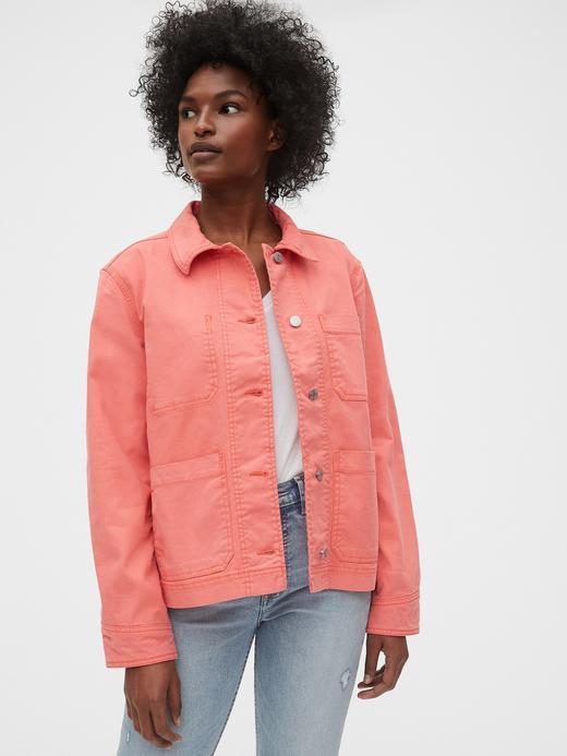 Kadın Pembe Düğmeli Ceket