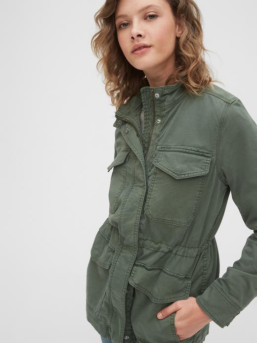 Kadın Yeşil Utility Ceket