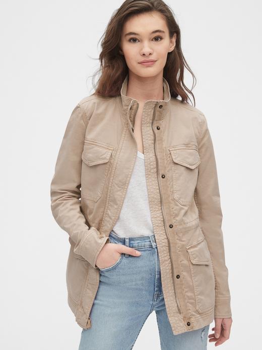 Kadın Bej Utility Ceket